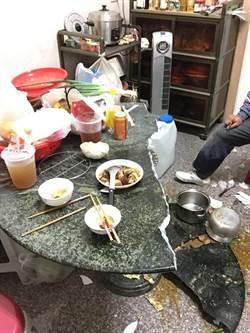 晚餐崩壞!阿嬤滷肉一端上 大理石桌應聲斷裂