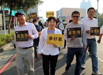 民進黨立委僅劉世芳全程參加反空汙遊行 但未簽署連署書
