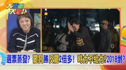 《大政治大爆掛》選票蒸發?罷昌勝反罷2倍多!時力不給力?2018剉?
