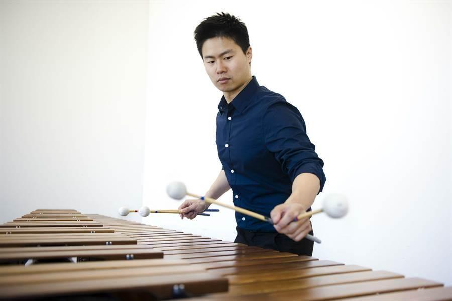35歲擊樂家林威震目前在上海交響樂團任職。(台北愛樂青年管弦樂團提供)
