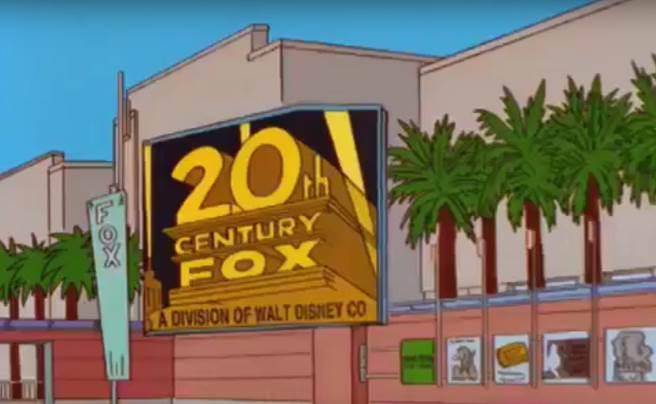 《辛普森家庭》在19年前就已經預言迪士尼收購福斯。(圖/翻攝YOUTUBE)
