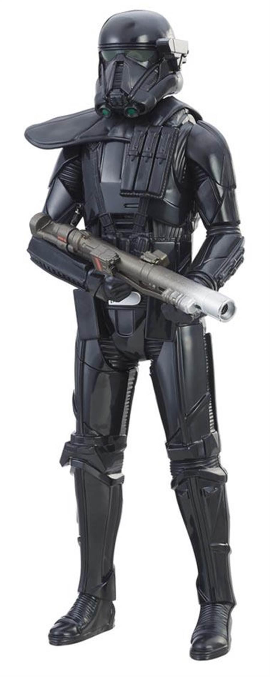 家樂福依照星戰人物打造的星際大戰8至12吋電子泰坦英雄人物,979元。(家樂福提供)