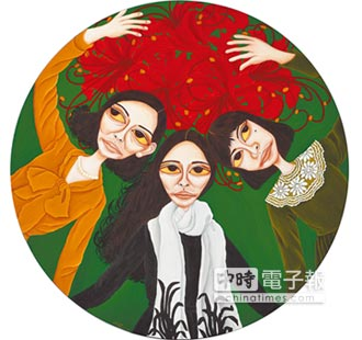 柳依蘭揮東方畫筆 創血觀音精神