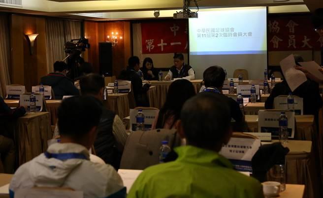 中華足協上演臨時會員大會,結果因程序不符而流會。(李弘斌攝)