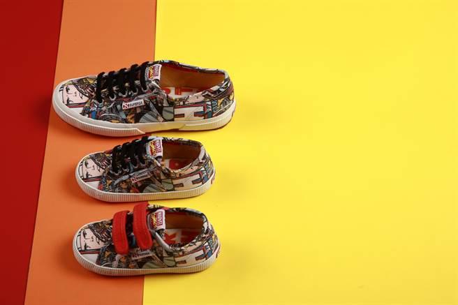 義大利國民鞋SUPERGA日前宣布與MARVEL合作,推出超級英雄限量鞋款。(SUPERGA提供)
