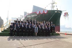 台船承造全貨櫃輪「EVER BIRTH」命名 長榮海運再添生力軍