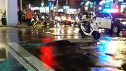 土城金城路立德路口水管破裂阻交通 警方管制中
