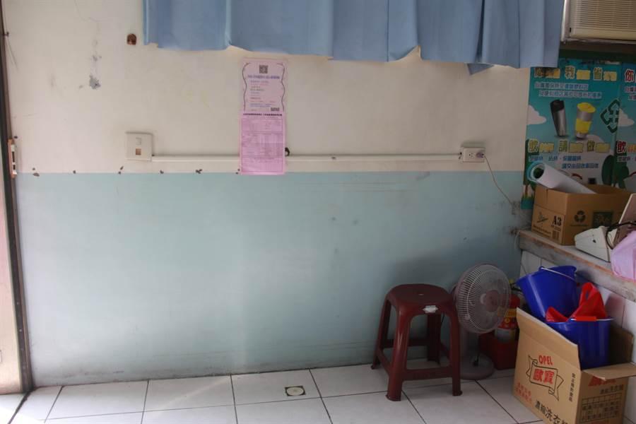 擔心明年收不到租金,29日是公家機關上班日最後一天,北斗鎮公所臨時辦公處所內的影印機已經被廠商搬空。(謝瓊雲攝)
