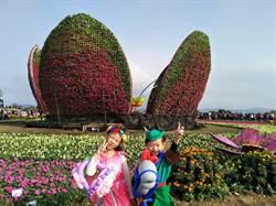 迎接元旦連假第一天小小花仙子降臨「2017台中國際花毯節」