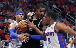 NBA》主力都在沒用?馬刺慘遭活塞修理