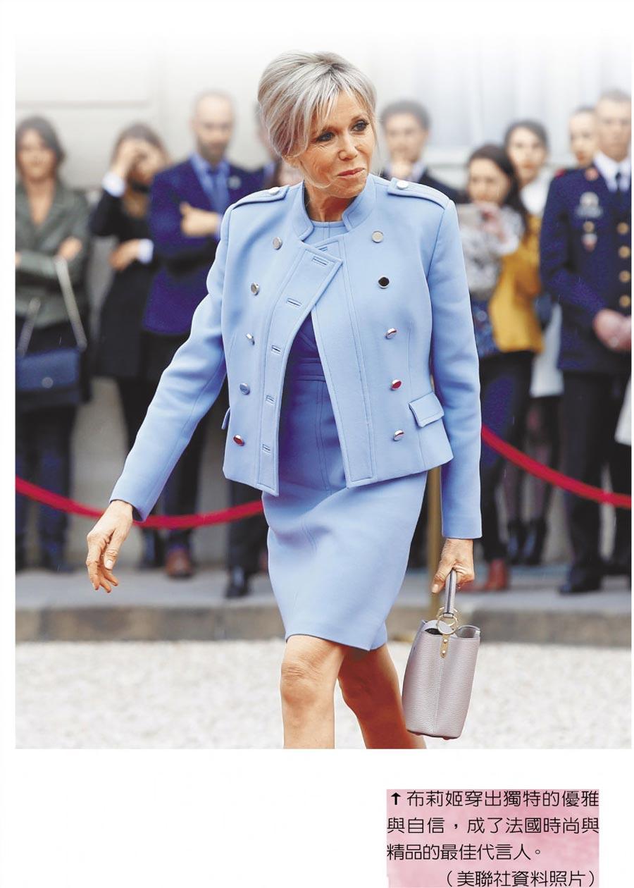 布莉姬穿出獨特的優雅與自信,成了法國時尚與精品的最佳代言人。(美聯社資料照片)