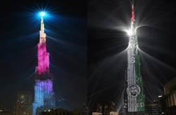 超清新 世界第一高樓跨年上演燈光秀 0煙火!