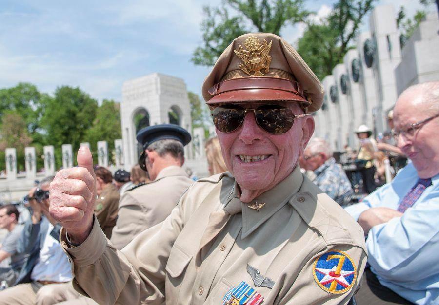 傑里耶林在2014年參加二戰勝利紀念活動。(圖/星條旗報)
