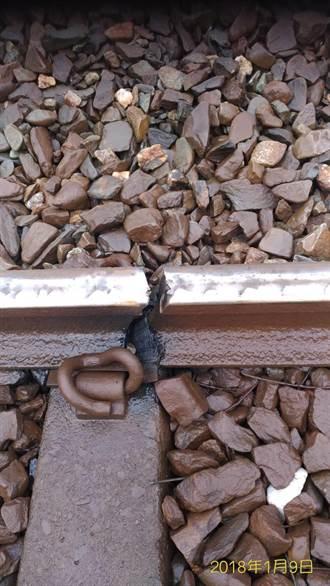寒流來襲 台鐵驚傳鋼軌斷裂