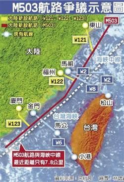 陸開通M503航線 薄瑞光:軍事影響有限
