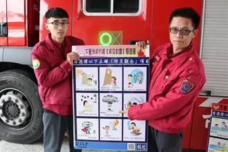 你通過防災驗證了嗎?下營消防隊自製九宮格宣導