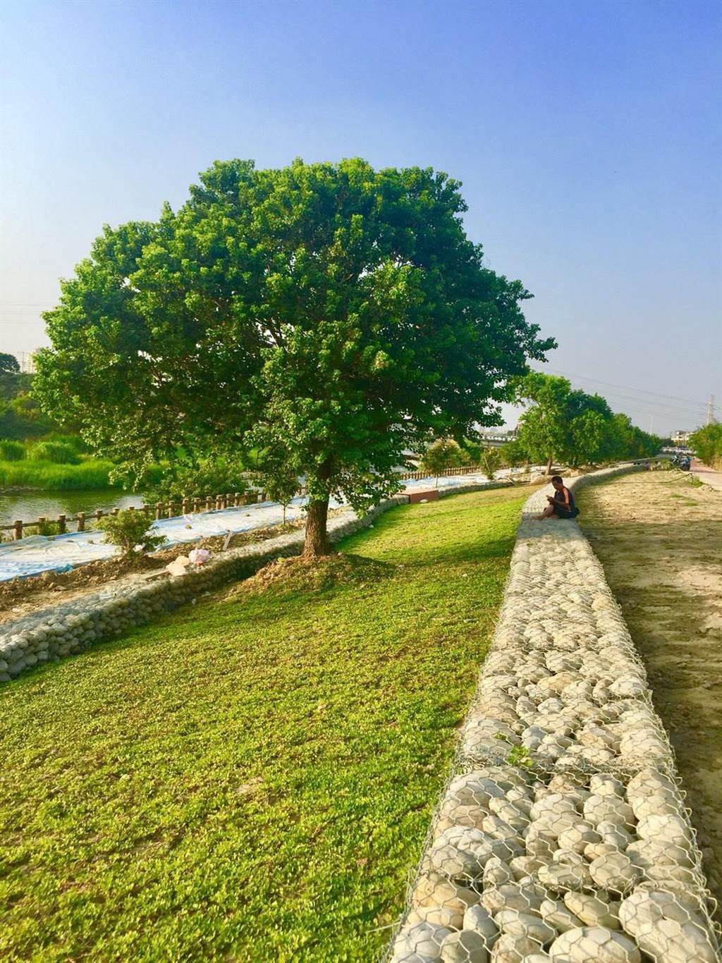 筏子溪迎賓水岸廊道,預期將成為台中市的旅遊休閒新地標。(盧金足翻攝)