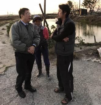 視察台南漁塭寒害災情 黃偉哲將與農委會研商擴大補助