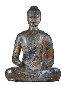 隋朝的木芯漆佛,是大陸目前已知最早的漆佛。(取自澎湃新聞網)