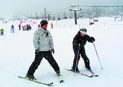 滑雪+冬捕 台客愛上陸雪場