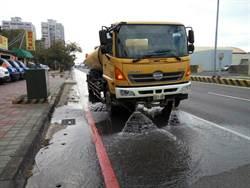 防制空汙 環局1年洗街里程可繞台400圈