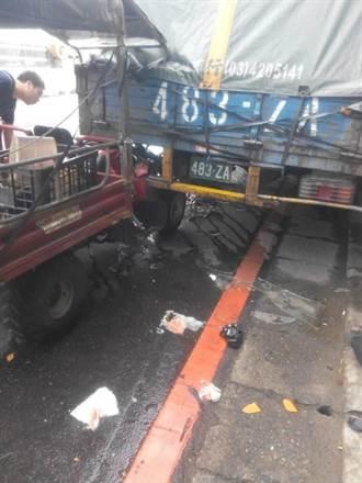 鐵牛車撞貨車老翁亡 駕駛沒放警示標誌判刑6月