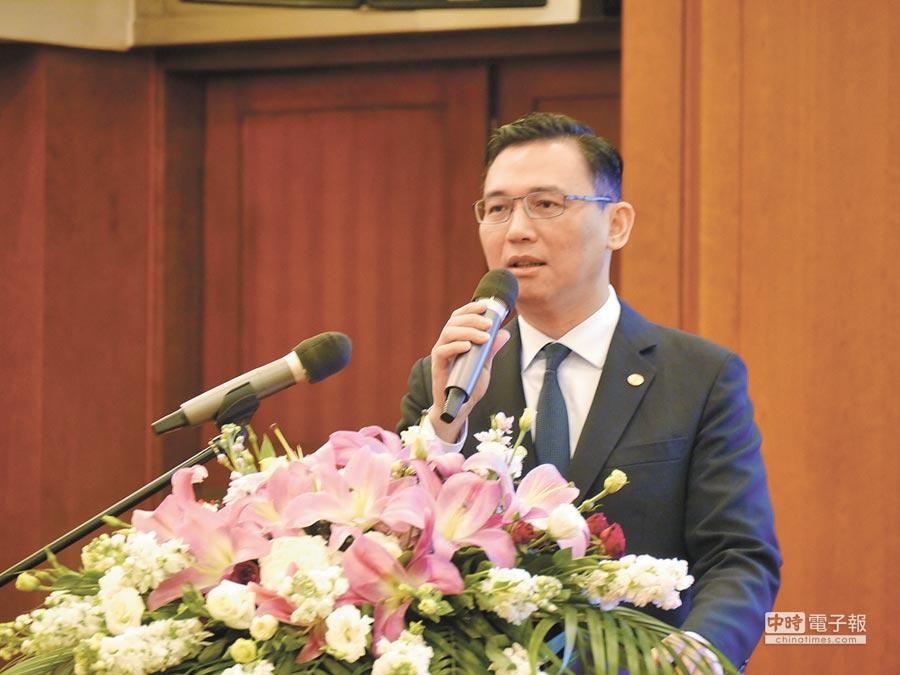 旺旺集團神旺大酒店總經理孫求行表示,與阿里巴巴的AI智能合作,會擴大到更多旺旺集團旗下產業。(記者張國威攝)
