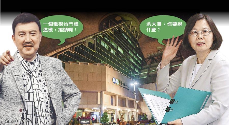 余天(左)蔡英文總統(右)(本報資料照片)