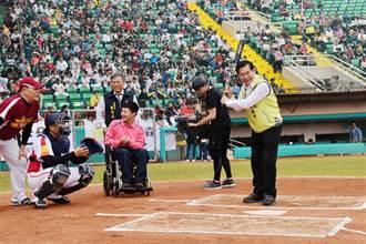 明星公益棒球賽助若竹兒  嘉義市立棒球場擠進近萬人