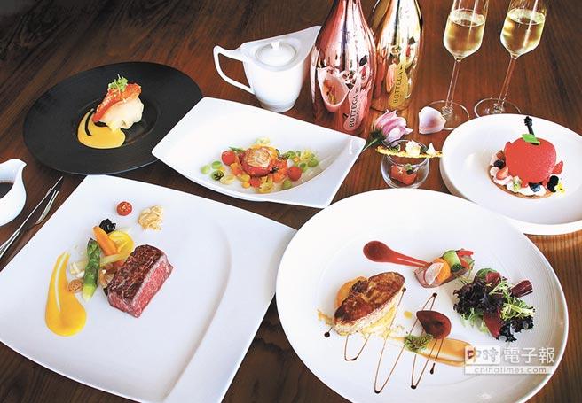 台中日月千禧酒店2月14日晚間推出情人節套餐,每人2899元+10%。(日月千禧酒店提供)
