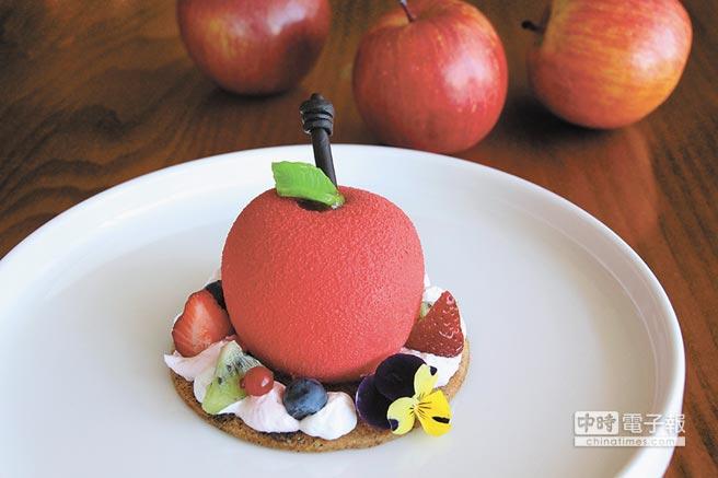 可愛的「愛戀香蘋」層次豐富,令五感充滿驚喜。(日月千禧酒店提供)