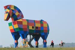 走馬瀨農場30周年拚人氣 巨型彩虹牧馬吸睛