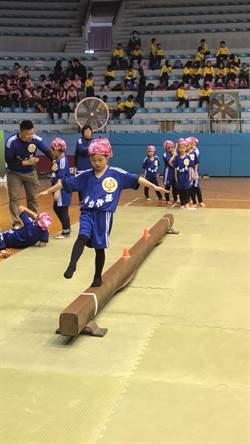 體育署試辦國小體操賽台體大登場 中市14校同樂