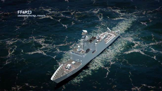 亨丁頓英格斯提出的巡邏巡防艦,是在巡邏艦的船體上安裝軍用武裝。(圖/Hll)