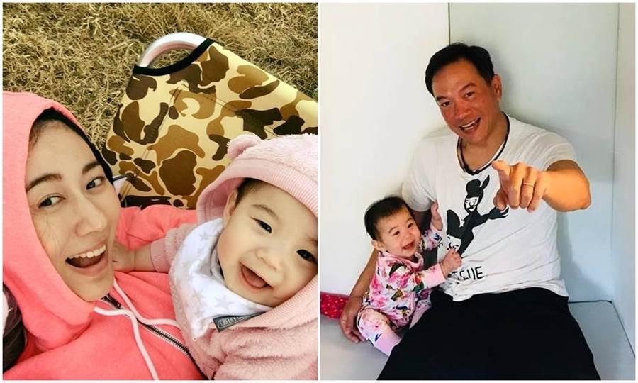 張翰、林利霏的女兒小翰寶超可愛。(取材臉書)