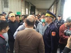 台南議政史料館遭上百人聲援 警方帶回2人