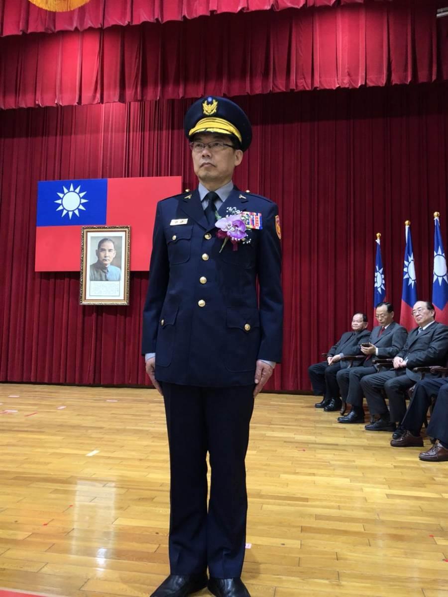 彰化縣警察局長林順家宣示就職。(吳敏菁攝)