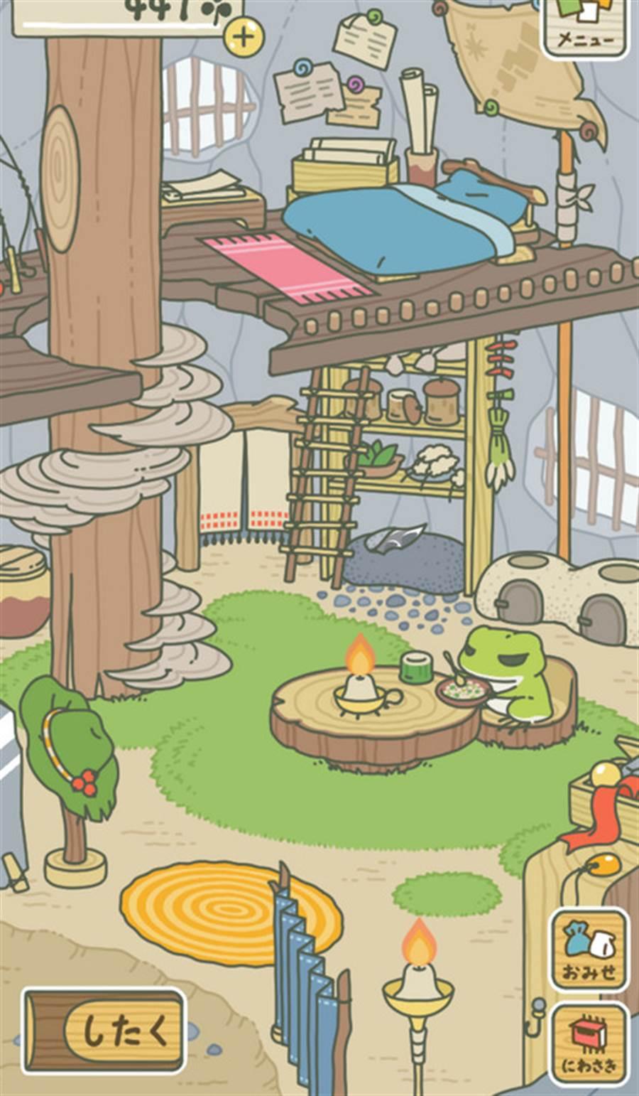 日本手機遊戲「旅蛙」在中國大陸受到熱烈迴響。(擷取自旅蛙遊戲畫面/中央社)