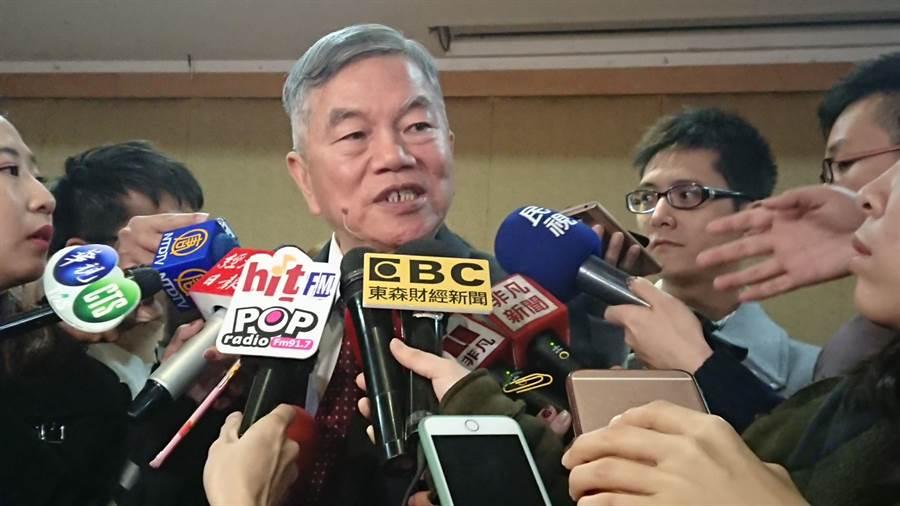 經濟部長沈榮津24日舉行媒體餐敘。(記者戴慧瑀攝)