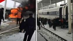 陸高鐵車廂竄烈火 1400名旅客驚慌逃命