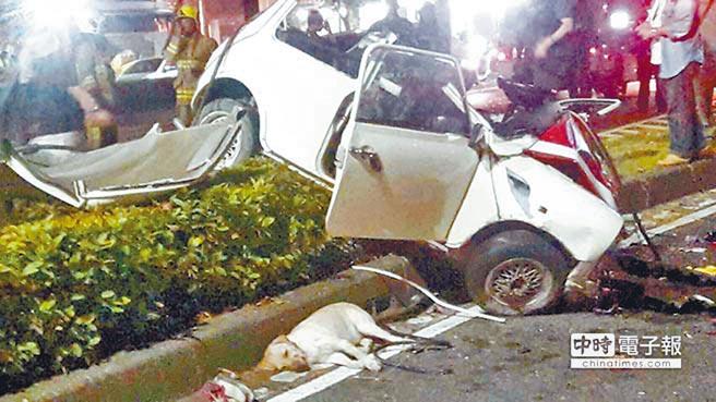 整形醫師倪宗亨前年11月酒後跟朋友開車競速,導致連環撞。(本報資料照片,翻攝爆料公社)