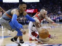 NBA》韋斯布魯克飆贏畢爾 雷霆豪取6連勝