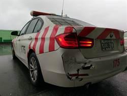國道警車處理車禍遭波及 6車受損2人輕傷