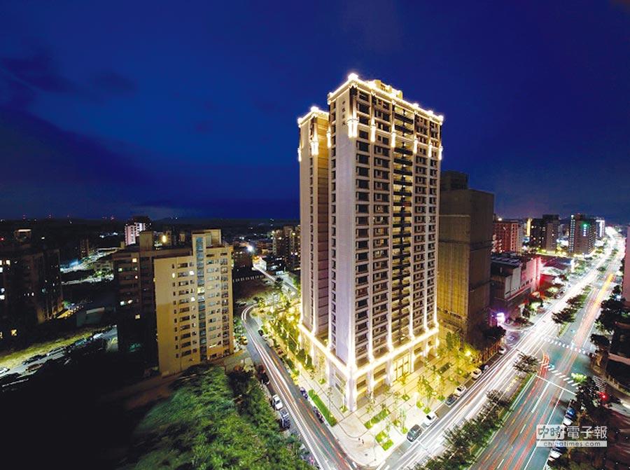 30分鐘台北市區跟林口的經濟生活圈成形,林口新的精品建案「中悅松苑」26層崗石建築,成為藏家的最愛。圖/業者提供
