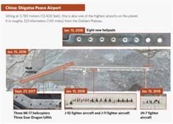 中印加強戰機部署 美智庫:洞朗勢爆新衝突