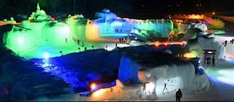 七彩燈光打造魔幻冰雪世界 43屆北海道「層雲峽冰瀑祭」盛大登場!