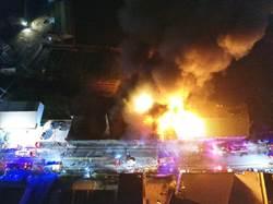 這裡也爆炸! 烏日五光路暗夜爆炸 五鐵皮工廠全毀