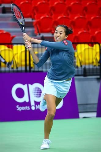 WTA台灣賽》第2種子張帥 首日爆冷出局