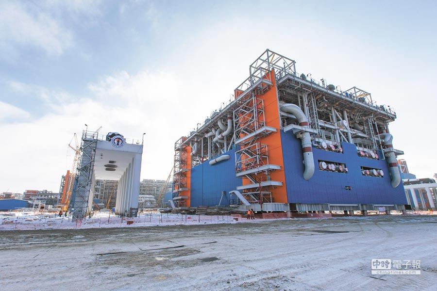 大陸積極在北極發展,與俄羅斯開發合作已取得進展。圖為陸在俄羅斯亞馬爾液化天然氣項目廠區。(新華社資料照片)