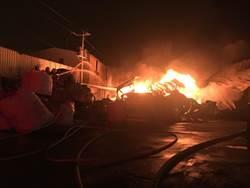 蘆竹暗夜惡火 燒毀鐵皮屋倉庫